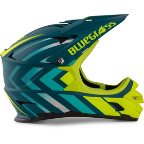 bluegrass Intox Helm avio/blue shaded/fluo yellow